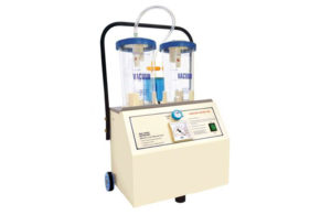 Electric cum manual operated suction unit