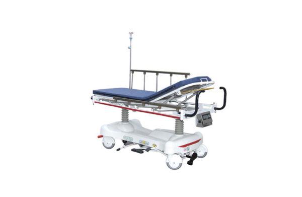 Hydraulic patient stretcher